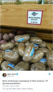 18 Times Product Packaging Contributed To The Great Global Waste Problem Of Our Times - Single Wrapped Potatoes